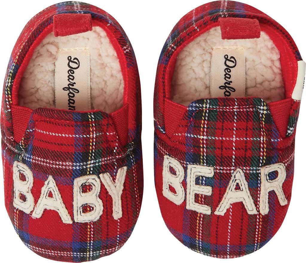 Infant Dearfoams Baby Bear Closed Back Slipper, Red Plaid/Fire Brick, large, image 1