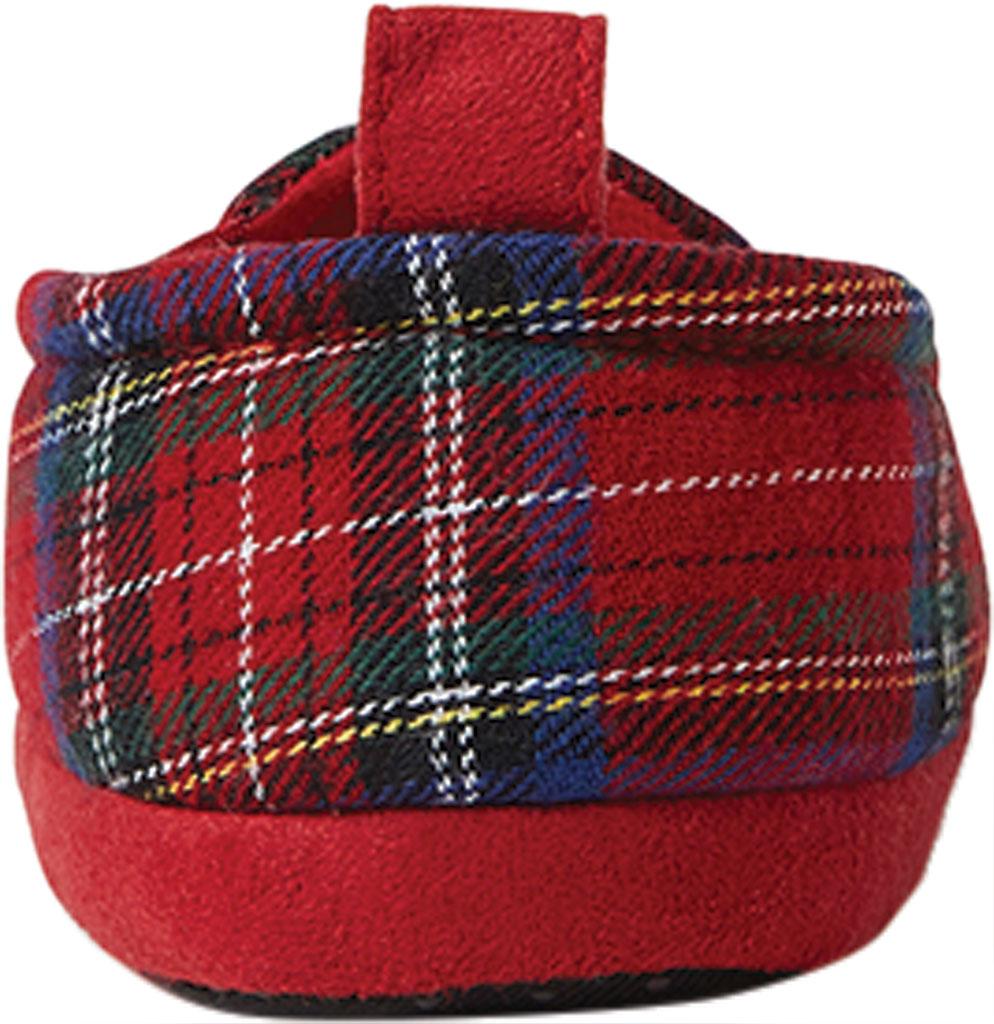 Infant Dearfoams Baby Bear Closed Back Slipper, Red Plaid/Fire Brick, large, image 4