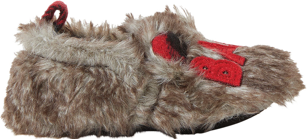 Infant Dearfoams Baby Furry Baby Bear Closed Back Slipper, Brown Frost, large, image 2