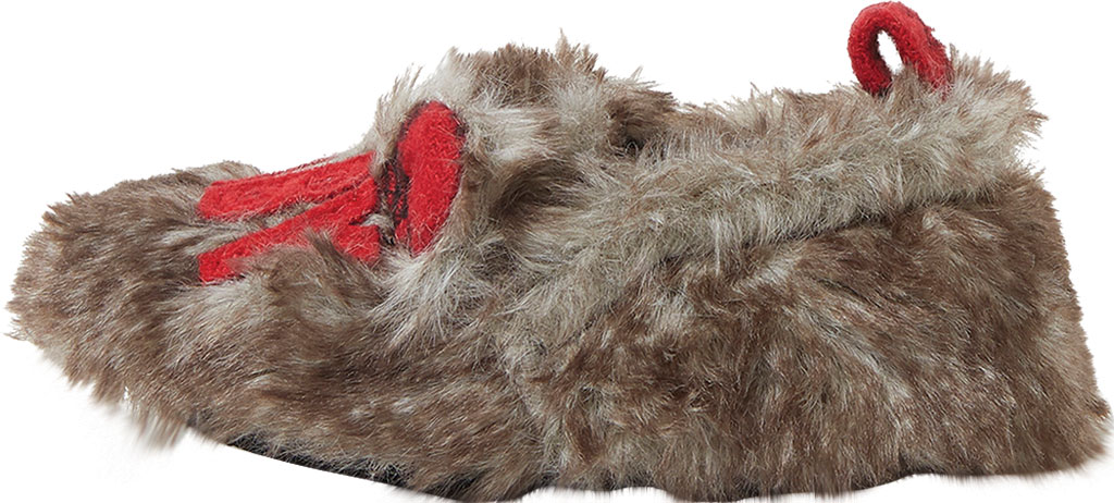 Infant Dearfoams Baby Furry Baby Bear Closed Back Slipper, Brown Frost, large, image 3