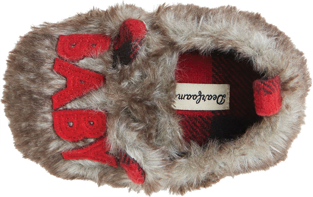 Infant Dearfoams Baby Furry Baby Bear Closed Back Slipper, Brown Frost, large, image 5