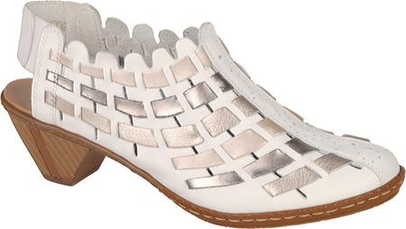 Women's Rieker-Antistress Sina 78 Shoe, White/Silver/Platinum, large, image 1