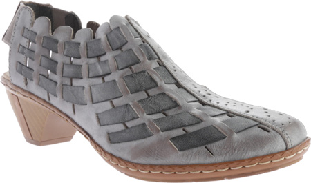 Women's Rieker-Antistress Sina 78 Shoe, White Grey/Rauch, large, image 1