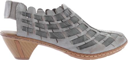 Women's Rieker-Antistress Sina 78 Shoe, White Grey/Rauch, large, image 2