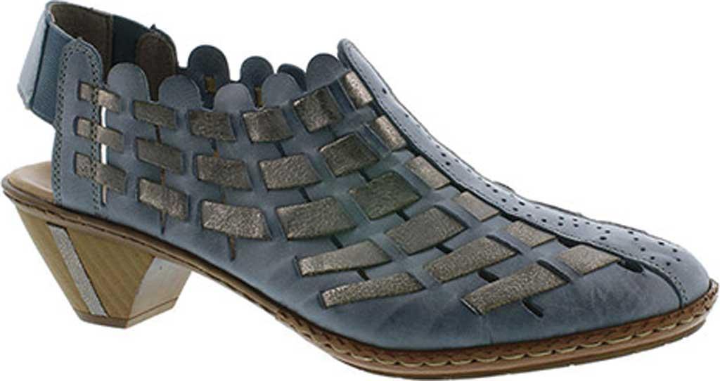 Women's Rieker-Antistress Sina 78 Shoe, Azur/Grey Leather, large, image 1