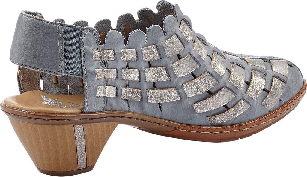 Women's Rieker-Antistress Sina 78 Shoe, Azur/Grey Leather, large, image 2