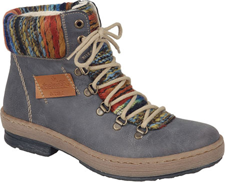 Women's Rieker-Antistress Felicitas 43 Lace Up Ankle Boot, Basalt/Nuss/Orange Multi Synthetic, large, image 1