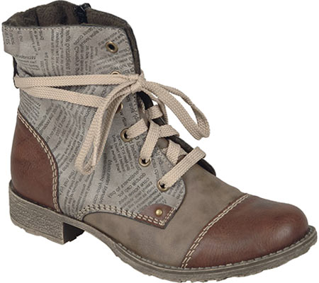 Women's Rieker-Antistress Payton 22 Lace Up Boot, Brandy/Fango/Cigar Synthetic, large, image 1