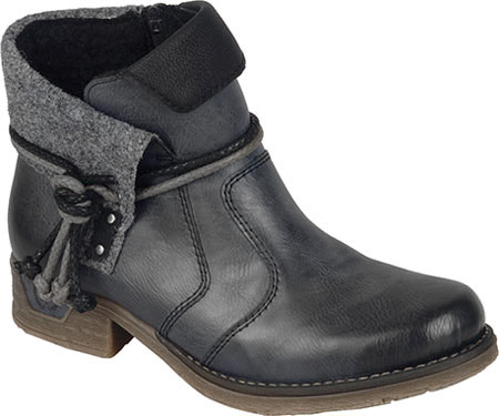 Women's Rieker-Antistress Fee 93 Ankle Boot, Black/Black/Wood/Mogano Synthetic, large, image 1
