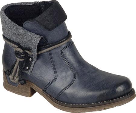Women's Rieker-Antistress Fee 93 Ankle Boot, Ozean/Black/Granit/Black Synthetic, large, image 1