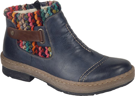 Women's Rieker-Antistress Felicitas 84 Ankle Boot, Ozean/Mogano/Multi Synthetic, large, image 1