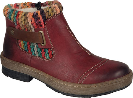 Women's Rieker-Antistress Felicitas 84 Ankle Boot, Wine/Mogano/Multi Synthetic, large, image 1