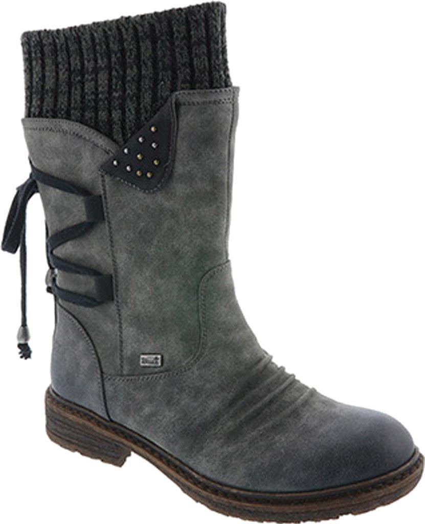 Women's Rieker-Antistress Dominika 73 Mid Calf Boot, Smoke/Schwarz/Black/Grey Synthetic, large, image 1