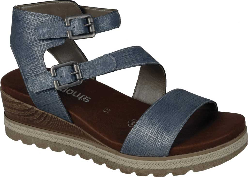 Women's Remonte Icess 51 Ankle Strap Sandal, Denim Synthetic, large, image 1