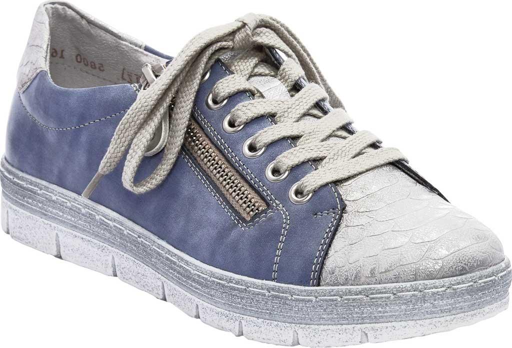 Women's Remonte Kaja 00 Sneaker, Shark/Jeans/Silver Leather, large, image 1
