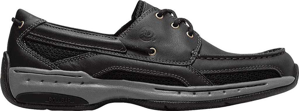 Men's Dunham Captain Mesh Boat Shoe, Black, large, image 2