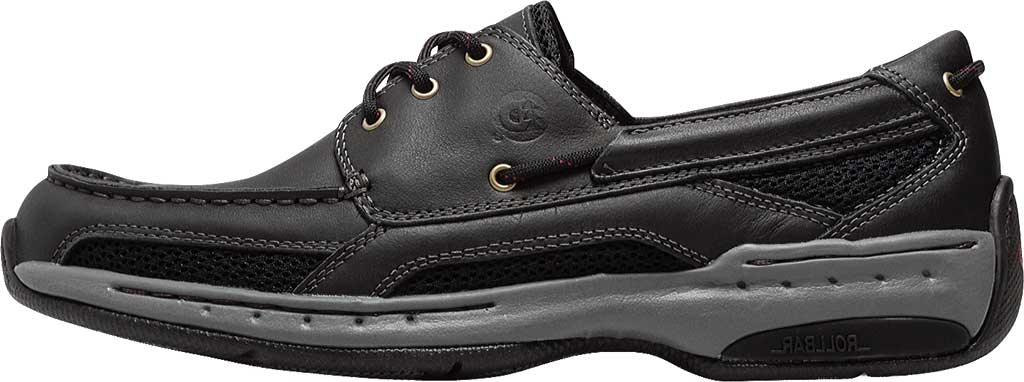 Men's Dunham Captain Mesh Boat Shoe, Black, large, image 3