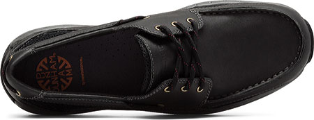 Men's Dunham Captain Mesh Boat Shoe, Black, large, image 5