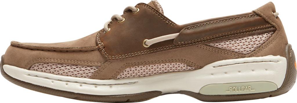 Men's Dunham Captain Mesh Boat Shoe, Two Tone Taupe Leather, large, image 3