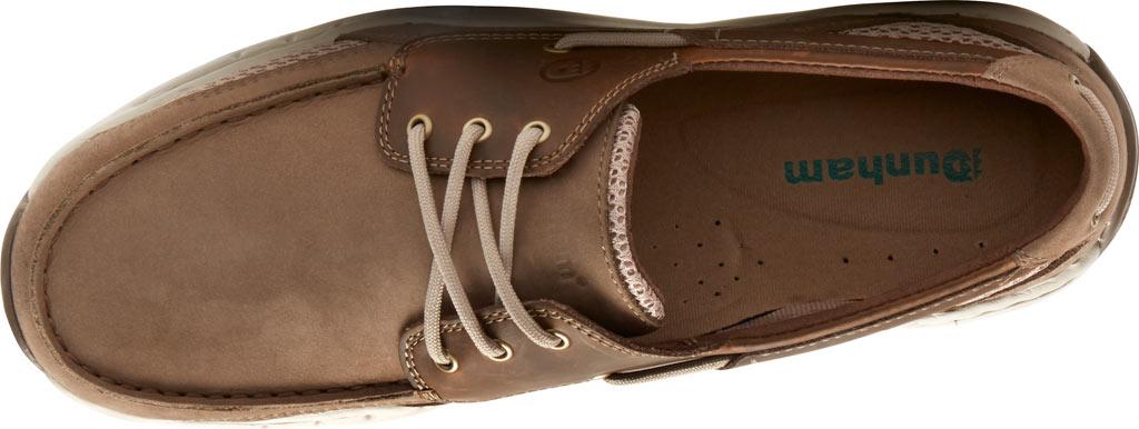 Men's Dunham Captain Mesh Boat Shoe, Two Tone Taupe Leather, large, image 4