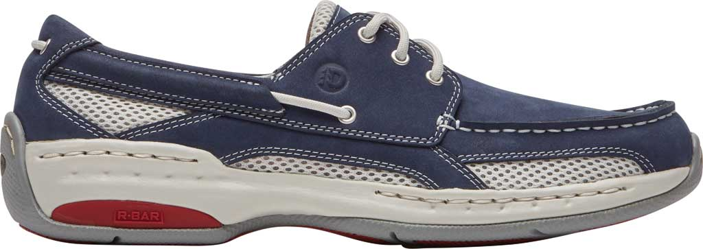 Men's Dunham Captain Mesh Boat Shoe, Navy Nubuck/Mesh, large, image 2