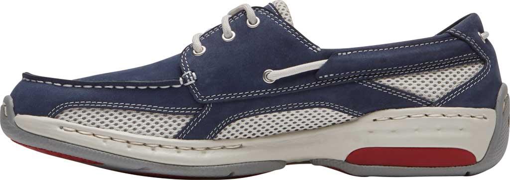 Men's Dunham Captain Mesh Boat Shoe, Navy Nubuck/Mesh, large, image 3