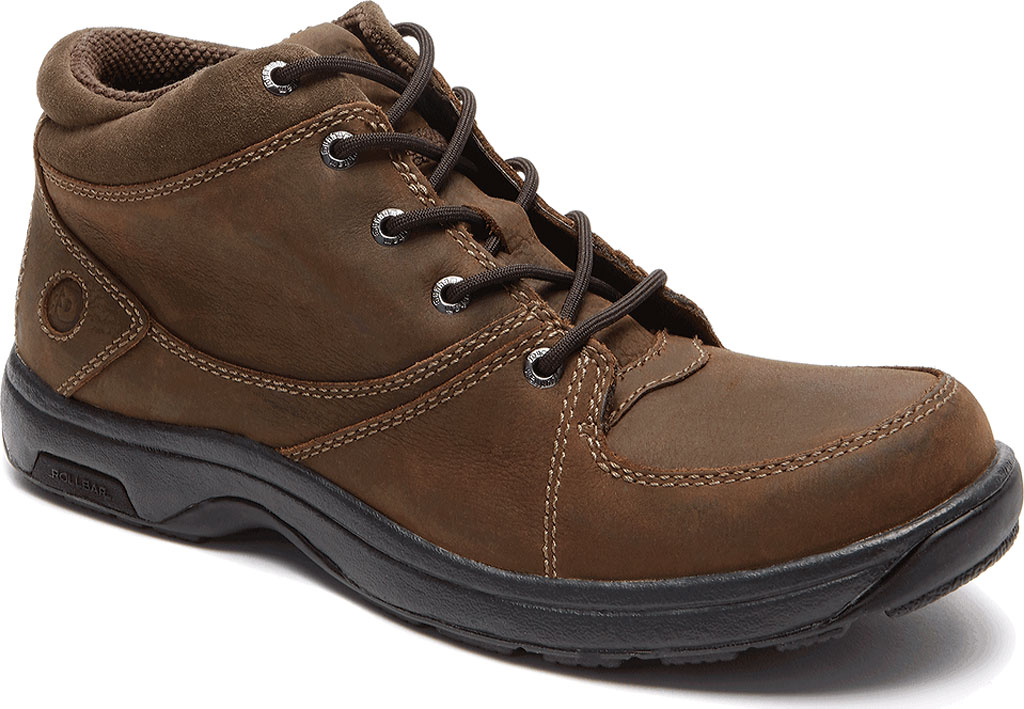 Men's Dunham Addison Lace-Up Boot, Dark Brown Leather, large, image 1