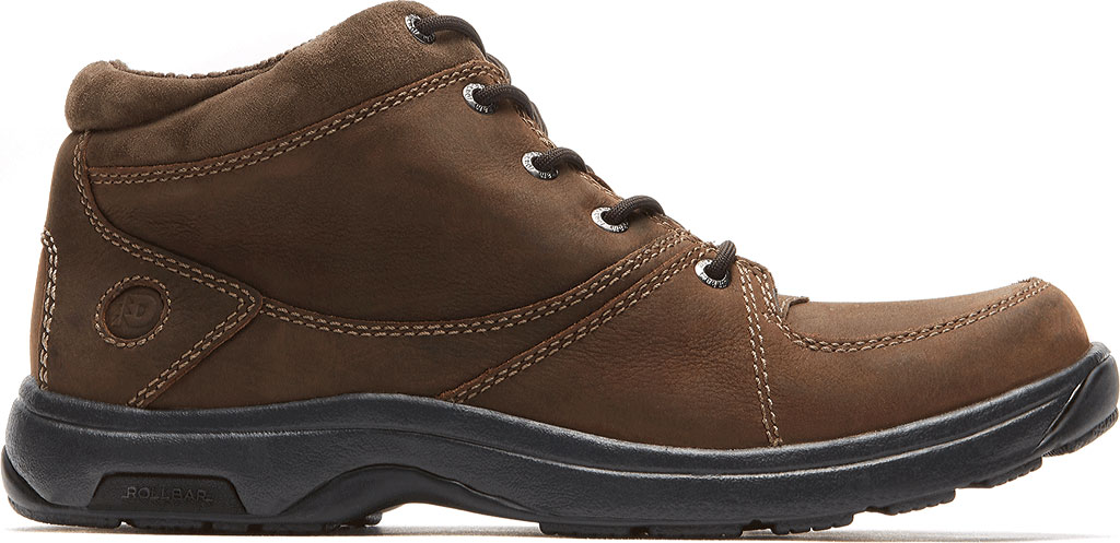 Men's Dunham Addison Lace-Up Boot, Dark Brown Leather, large, image 2