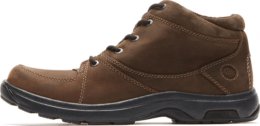 Men's Dunham Addison Lace-Up Boot, Dark Brown Leather, large, image 3