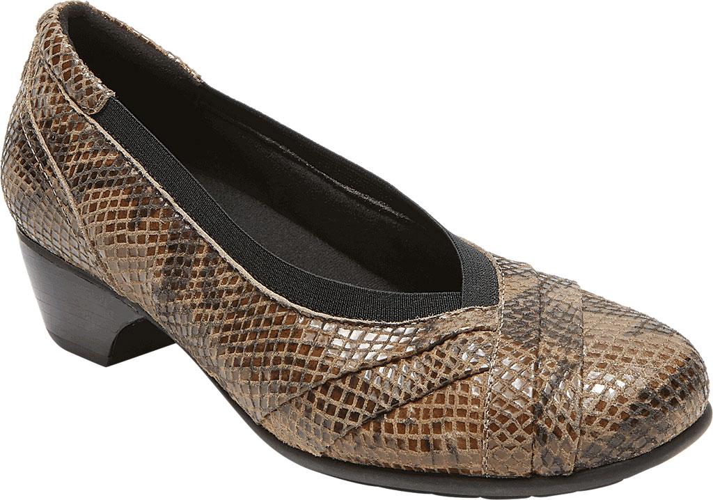 Women's Aravon Patsy, Taupe Snake Leather, large, image 1