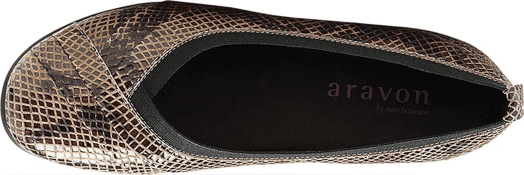 Women's Aravon Patsy, Taupe Snake Leather, large, image 4