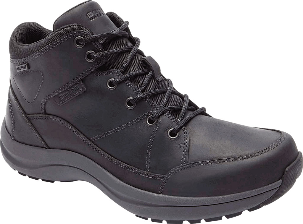 Men's Dunham Simon-DUN Waterproof Ankle Boot, Black Leather, large, image 1