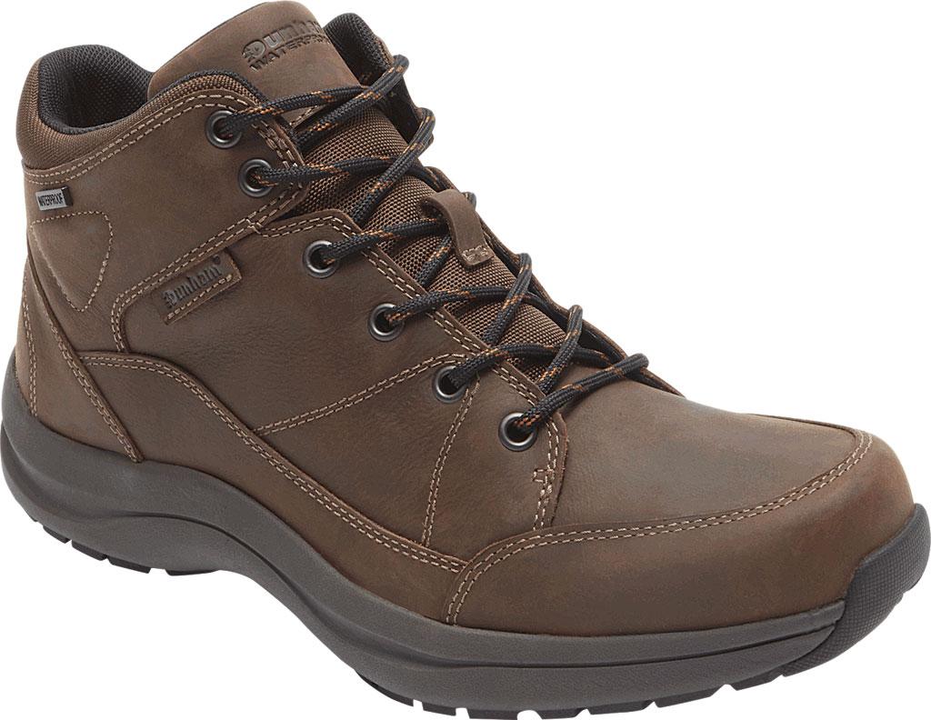 Men's Dunham Simon-DUN Waterproof Ankle Boot, Brown Leather, large, image 1