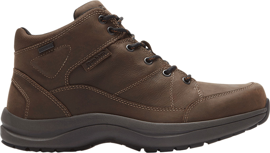 Men's Dunham Simon-DUN Waterproof Ankle Boot, Brown Leather, large, image 2