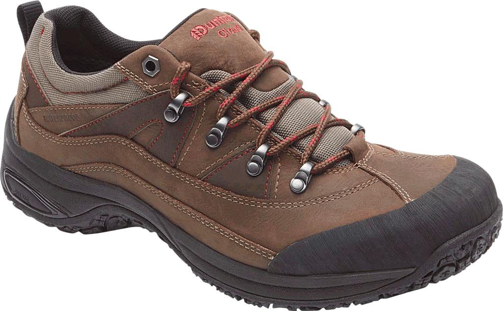 Men's Dunham Cloud Low Waterproof Hiker, Brown Leather, large, image 1