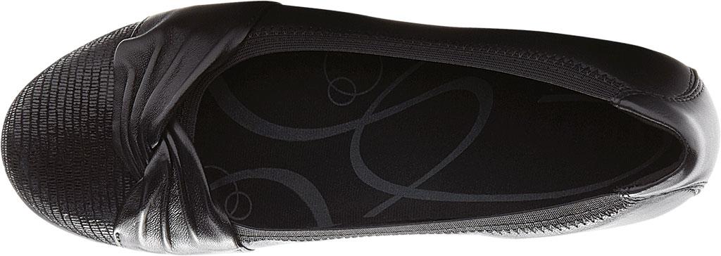 Women's Aravon Andrea-AR Ballerina Flat, Black Leather, large, image 4