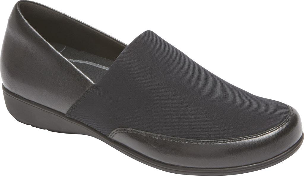 Women's Aravon Abbey A Line Slip-On, Black Leather, large, image 1