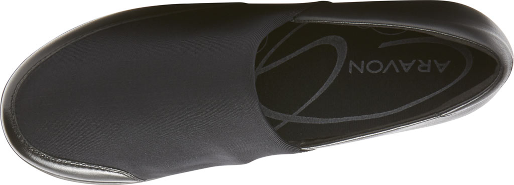 Women's Aravon Abbey A Line Slip-On, Black Leather, large, image 4