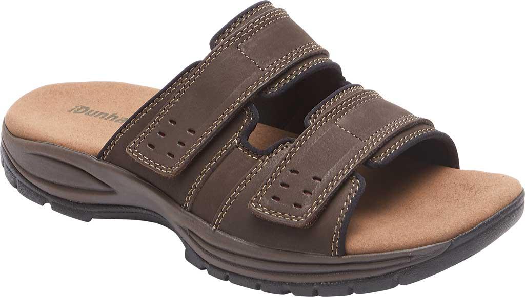 Men's Dunham Newport Slide, Dark Brown Leather, large, image 1