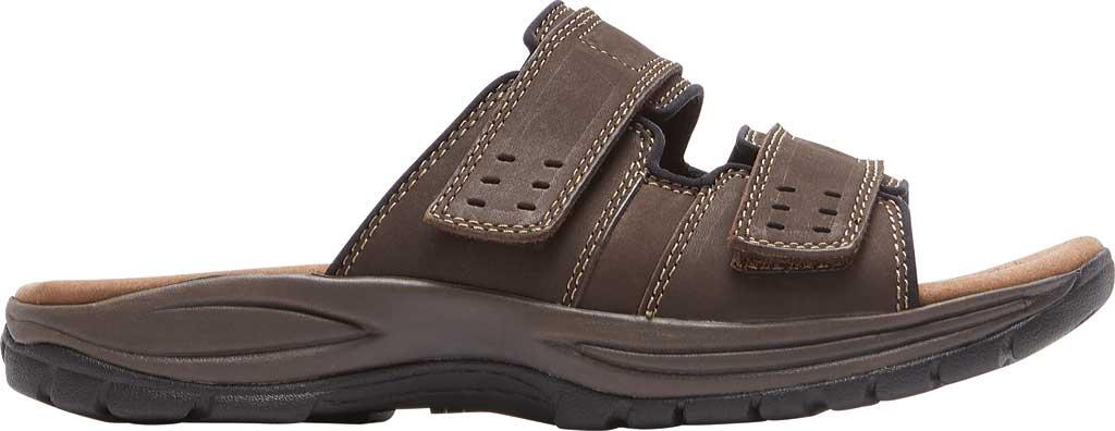 Men's Dunham Newport Slide, Dark Brown Leather, large, image 2