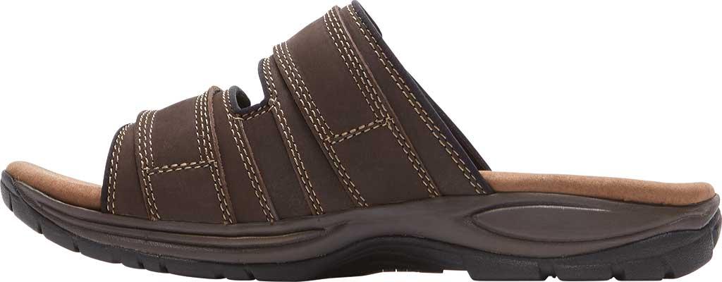 Men's Dunham Newport Slide, Dark Brown Leather, large, image 3
