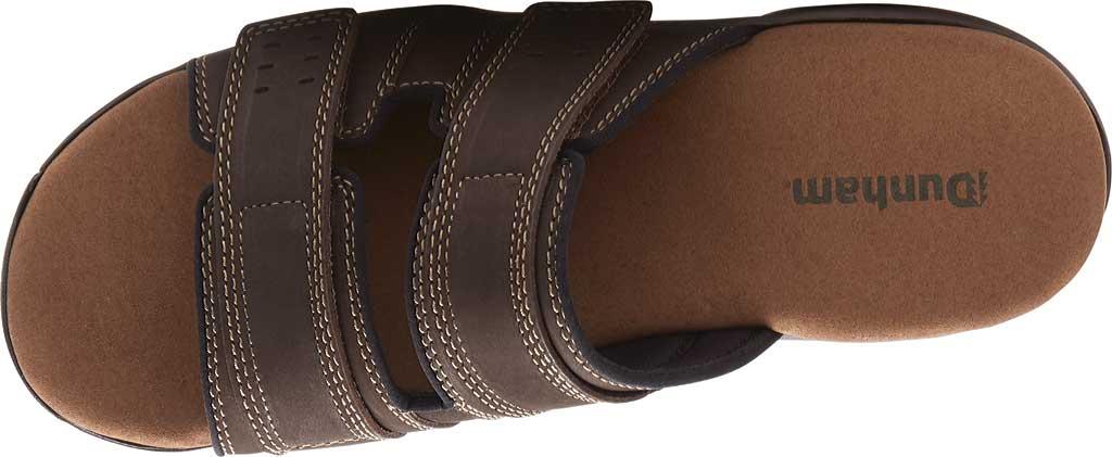 Men's Dunham Newport Slide, Dark Brown Leather, large, image 4