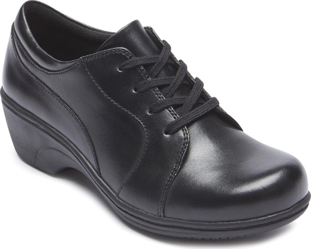 Women's Aravon Hanover Oxford, Black Leather, large, image 1