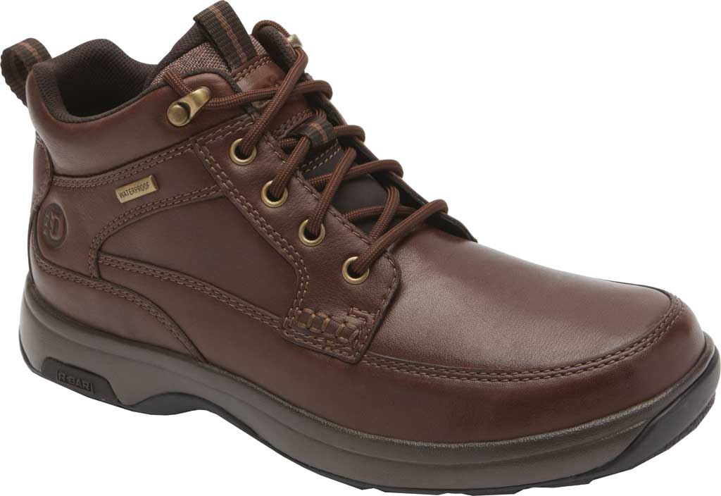 Men's Dunham 8000 Mid Boot, Dark Brown Leather, large, image 1