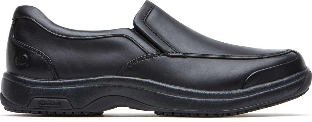 Men's Dunham Battery Park Service Slip-On, Black Leather, large, image 2