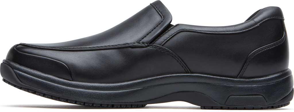 Men's Dunham Battery Park Service Slip-On, Black Leather, large, image 3