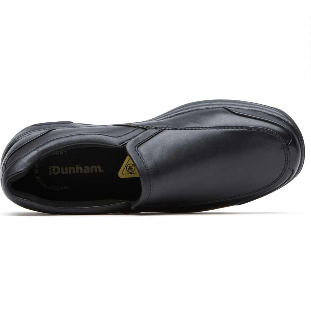 Men's Dunham Battery Park Service Slip-On, Black Leather, large, image 4