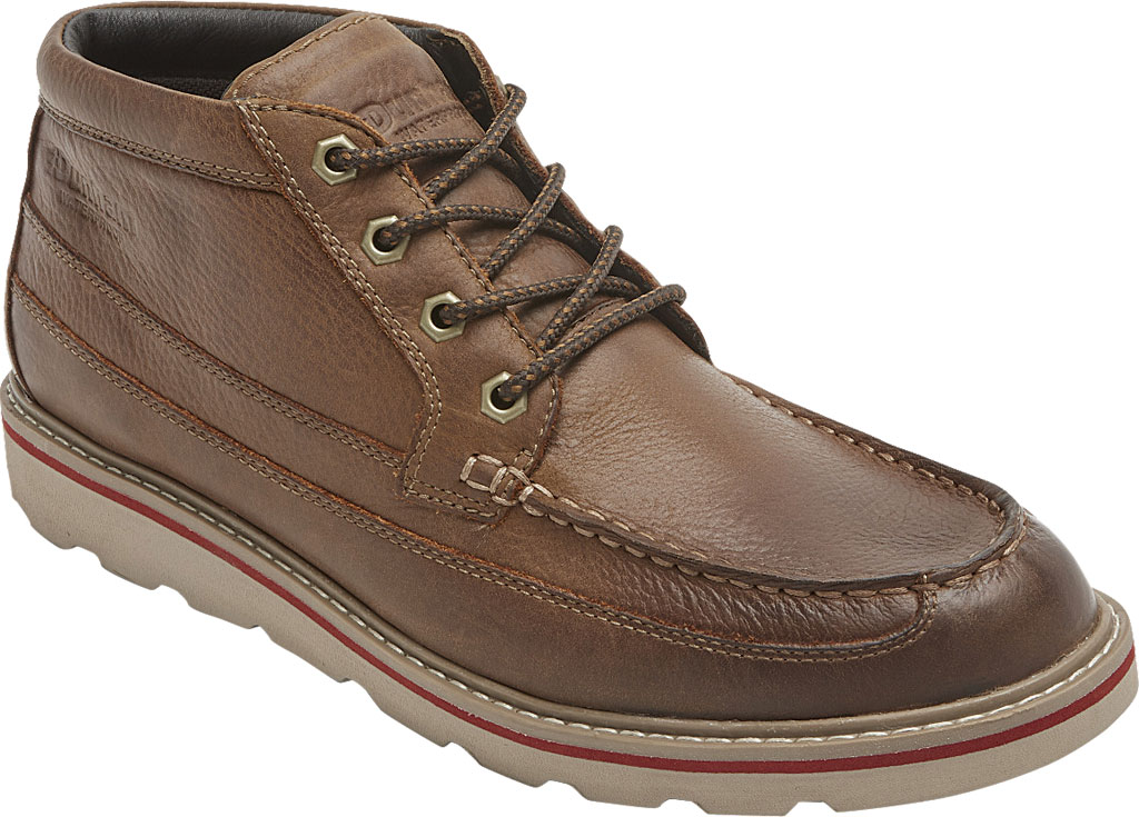 Men's Dunham Colt Moc Toe Boot, Tan Full Grain Leather, large, image 1
