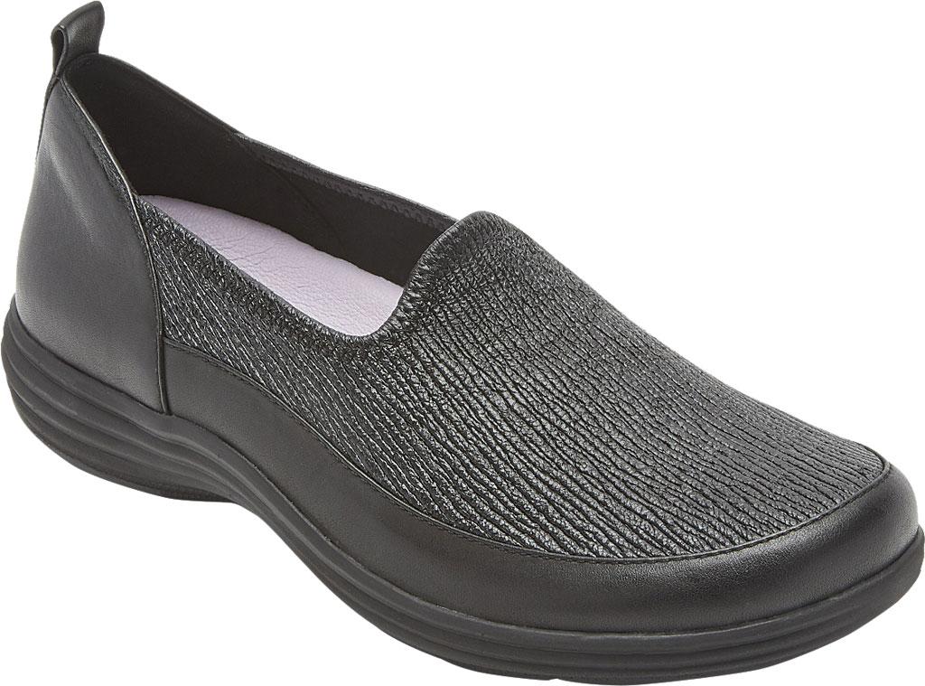 Women's Aravon Quinn Slip-on, Black Full Grain Leather, large, image 1
