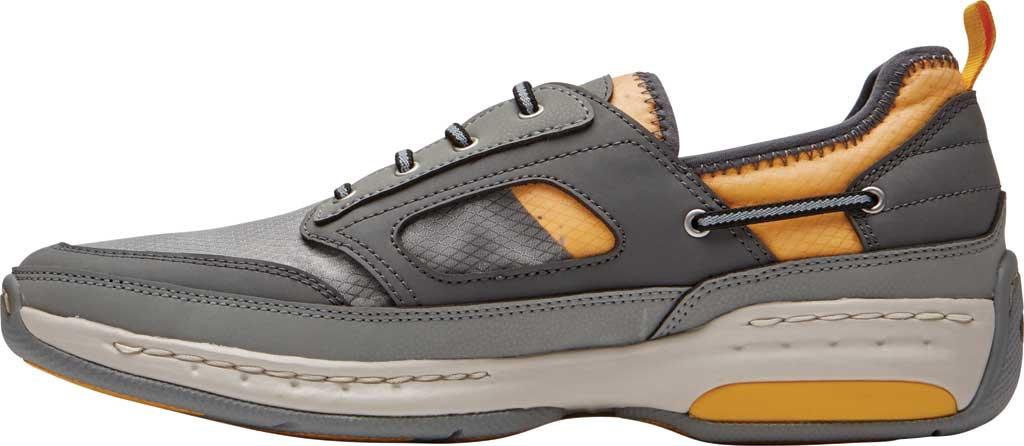 Men's Dunham Captain Sport Sneaker, Grey Textile, large, image 3